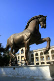 Sculpture en cheval de Da Vinci Photographie stock