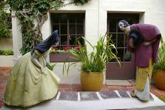 Sculpture en cour image stock