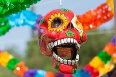Sculpture en crâne sur l'affichage Photo libre de droits