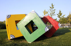 Sculpture en cube Photo libre de droits