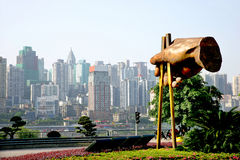 Sculpture en culture de nourriture de Chongqing. Images stock