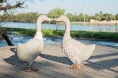 sculpture en décoration de canard Photo libre de droits