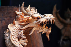 Sculpture en dragon Image stock