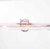 Sculpture en eau de couronne Photographie stock
