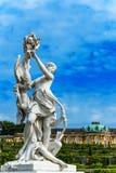 Sculpture en femme en parc Sanssouci de château à Potsdam, près de Berlin, l'Allemagne images stock