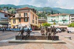 Sculpture en fer de Locarno à Locarno, Suisse images stock