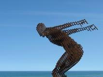 Sculpture en fer sur un chemin en Hermanus Images stock