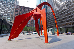 Sculpture en flamant Chicago Images stock