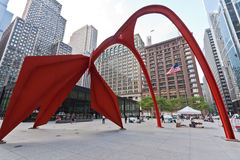 Sculpture en flamant Chicago Photos libres de droits