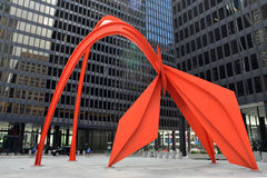 Sculpture en flamant Chicago Photo libre de droits