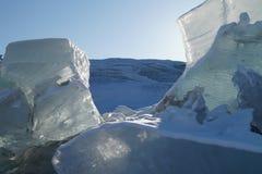 Sculpture en glace chez Russell Glacier Images libres de droits