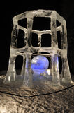 Sculpture en glace d'affaires rusées photographie stock libre de droits