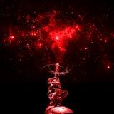 Sculpture en glace de Hou YI de fée sous le fond étoilé Photo libre de droits
