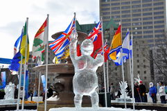 Sculpture en glace de Winterlude Photos stock