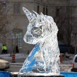 Sculpture en glace de Winterlude Image libre de droits