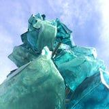 Sculpture en glace en verre photos libres de droits