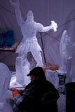 Sculpture en glace pendant le Winterlude Images libres de droits