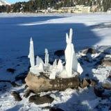 Sculpture en glace sur a photo libre de droits