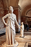 Sculpture en grec ancien dans le musee de Louvre Images libres de droits