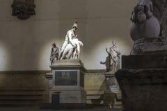 Sculpture en groupe de Pasquino sur le dei Lanzi de bungalow à Florence Image libre de droits