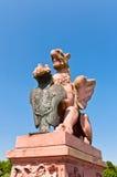 Sculpture en Gryphon au pont de Moltkebrücke Image stock