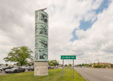 Sculpture en hommage d'avenue de Woodward à la croisière de rêve de Woodward Photo libre de droits