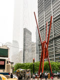 Sculpture en Joie de vivre à Manhattan inférieure Photo stock