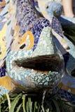 Sculpture en lézard chez Parc Guell Images libres de droits