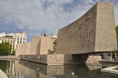 Sculpture en l'honneur de la découverte de l'Amérique Image libre de droits
