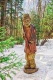 Sculpture en Landscapewooden de pays Photos stock
