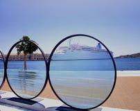 Sculpture en lentille de photo Images libres de droits