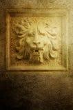 Sculpture en lion Images libres de droits