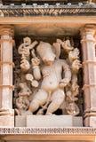 Sculpture en Lord Ganesha de temple de Vishvanatha, Khajuraho, Inde, Image stock