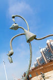 Sculpture en mangeur d'harengs sur le boulevard de Scheveningen, Netherland Photographie stock
