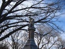 Sculpture en monument d'éther/bon Samaritain, jardin public de Boston, Boston, le Massachusetts, Etats-Unis Photos stock