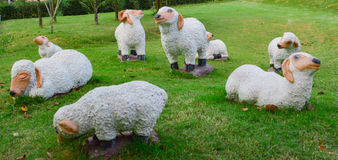 Sculpture en moutons Photo libre de droits