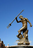 sculpture en neptun de Danzig de fontaine photographie stock libre de droits