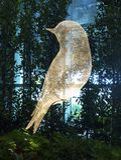 Sculpture en oiseau à l'aéroport international de Changi, terminal 4 Photographie stock