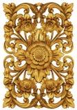 Sculpture en ornement de fleur de Balinese Photographie stock