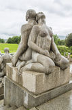 Sculpture en parc de Vigeland Oslo norway Photos stock