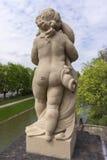 Sculpture en pierre avec des copies de rouge à lèvres dans Zwinger Photographie stock libre de droits