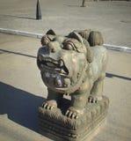 Sculpture en pierre dans Kyzyl Photos libres de droits