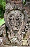 Sculpture en pierre dans le temple Sukuh-Indou érotique antique de Candi dessus image stock