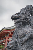 Sculpture en pierre en dragon Photos stock