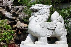 Sculpture en pierre en lion Images stock
