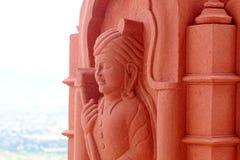 Sculpture en pierre en sable d'homme rural image libre de droits