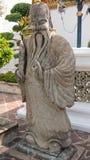 Sculpture en pierre en style de chiness et architecture thaïlandaise d'art Photographie stock libre de droits