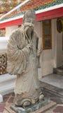 Sculpture en pierre et architecture thaïlandaise d'art Photo libre de droits