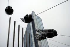 Sculpture en plongeur chez Vaterland à Oslo, Norvège Images libres de droits