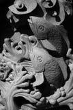 Sculpture en poissons Images libres de droits